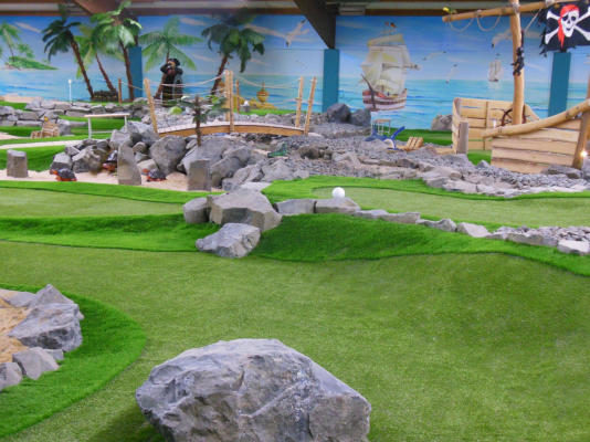 Indoor Mini-Golfplatz